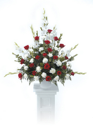 CTT2011 Red & White Pedestal Arrangement from Yesterday's and Tomorrows in Warner Robins, GA