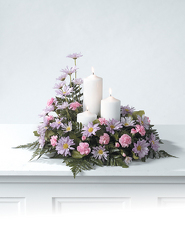 CTT6111 Pillar Candle Arrangement from Yesterday's and Tomorrows in Warner Robins, GA
