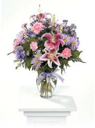 CTT6122 Pink & Purple Vase Arrangement from Yesterday's and Tomorrows in Warner Robins, GA
