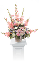 CTT7311 Gladiolus Pedestal Arrangement from Yesterday's and Tomorrows in Warner Robins, GA