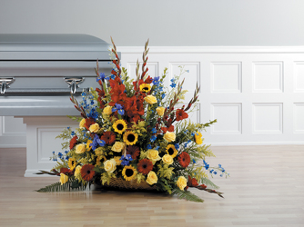 CTT8221 Fireside Basket Arrangement from Yesterday's and Tomorrows in Warner Robins, GA