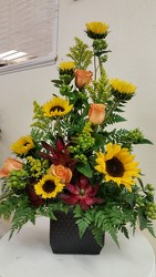 Sunflower Container Arrangement from Yesterday's and Tomorrows in Warner Robins, GA